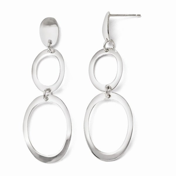 Sterling Silver Polished Post Dangle Earrings