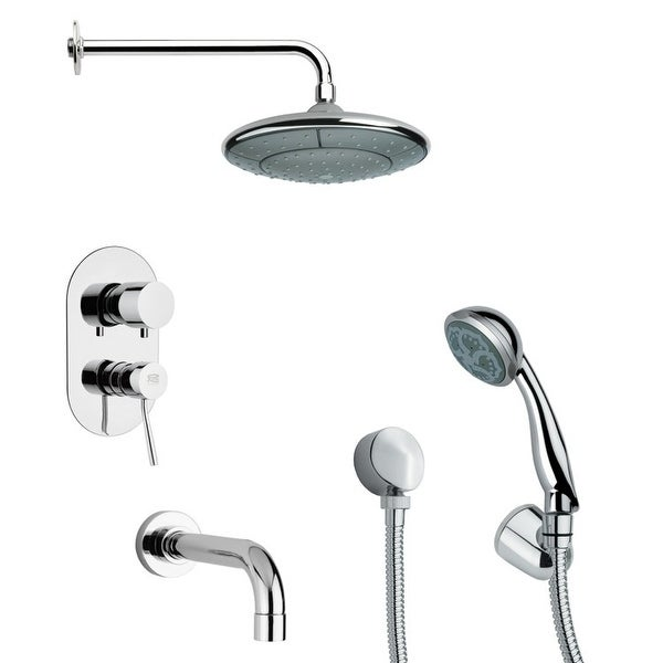 Nameeks TSH4031 Remer Tub and Shower Package with Single Function Rain Shower Head, Handshower, and Tub Spout - Chrome