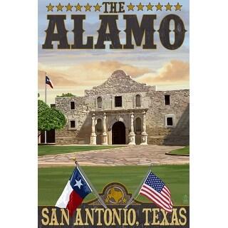 San Antonio TX - The Alamo Morning - LP Artwork (Poker Playing Cards Deck)
