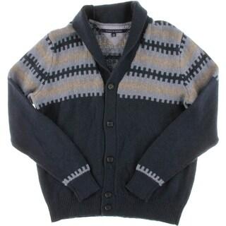 Tommy Hilfiger Mens Shawl-Collar Fair Isle Cardigan Sweater
