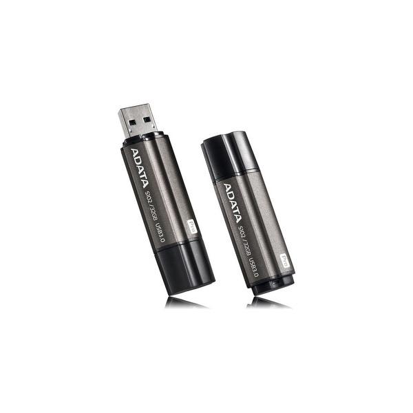 Adata AS102P-16G-RGY Adata 16GB Superior S102 Pro USB 3.0 Flash Drive - Arc-shape - 16 GBUSB 3.0 - Titanium GrayArc-shape