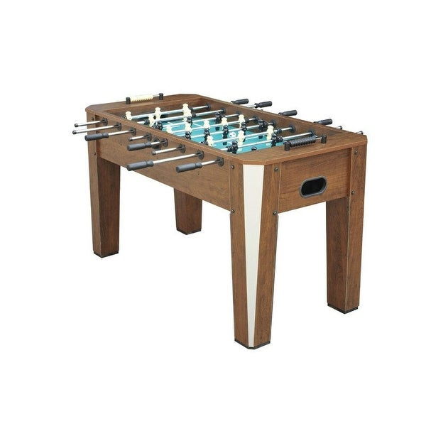 Official 5 Ft Woodgrain Foosball Table - 60 x 30 x 35 inches. Opens flyout.
