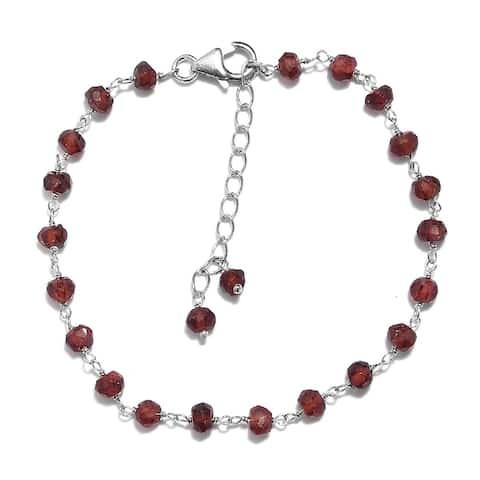 Shop LC Platinum Over 925 Silver Amethyst Bolo Bracelet Ct 9 - Bracelet 7.25''