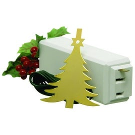 Carlon 1225L On/Off Touch Control Ornament For Christmas Tree Lights - brass tree