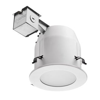 "Lithonia Lighting LK5LMW Glass Shower Kit, 5"", Matte White"