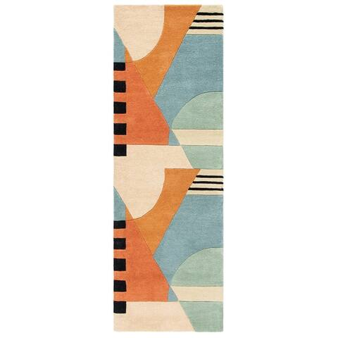 Safavieh Handmade Rodeo Drive Sofoula Mid-Century Modern Abstract Wool Rug