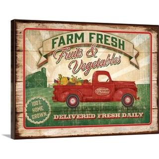 """Farm Fresh Produce"" Canvas Wall Art"