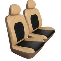 Pilot Automotive SC-436T Tan Super Sport Synthetic Leather Seat Cover (Pack of 6)
