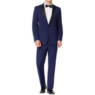 Calvin Klein Mens Tuxedo Extreme Slim Fit Contrast Trim