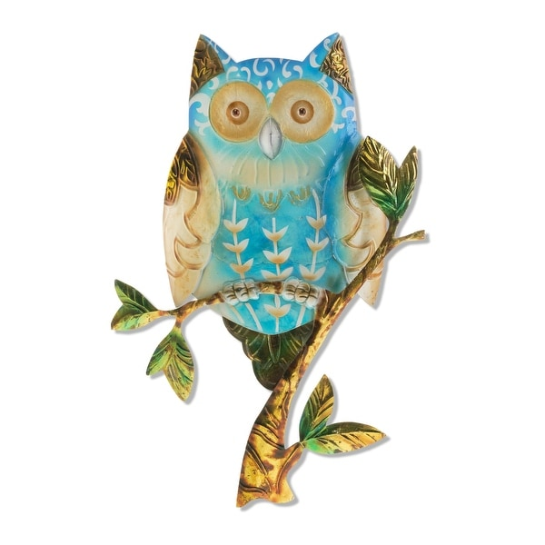 Handmade Owl Blue Wall Decor (Philippines) - 9 x 1 x 12. Opens flyout.