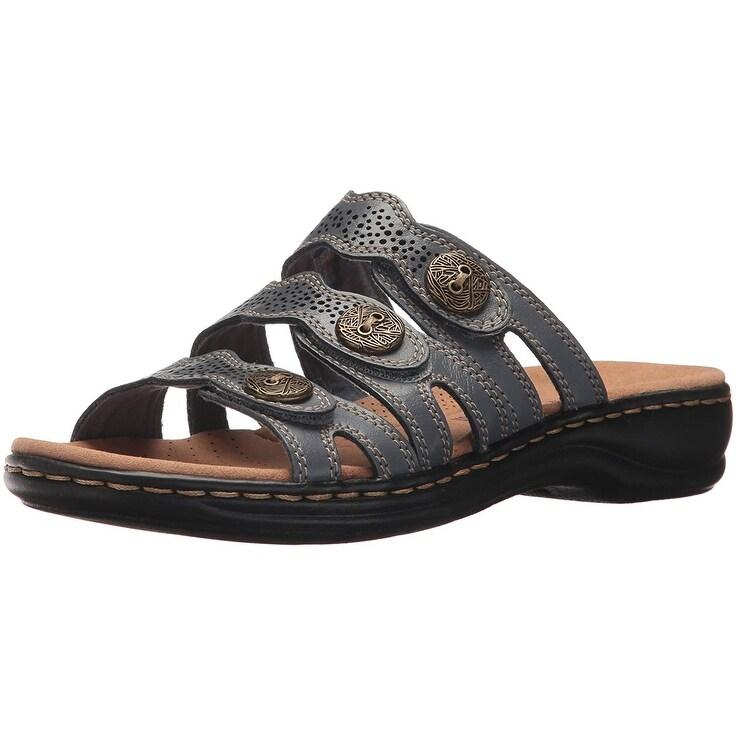 2019 factory price provide plenty of sale retailer Clarks Womens Leisa Grace Leather Open Toe Casual Slide Sandals