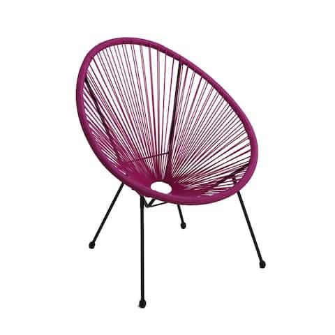 Tenir Light Purple Outdoor Patio Chair by Havenside Home