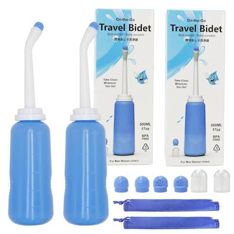 Portable Handheld Bidet Retractable Spray Nozzle Personal Cleaning