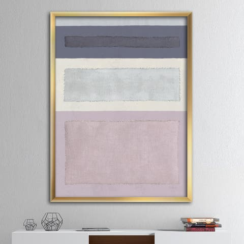 Designart 'Painted Weaving IV FB' Modern & Contemporary Framed Art Print