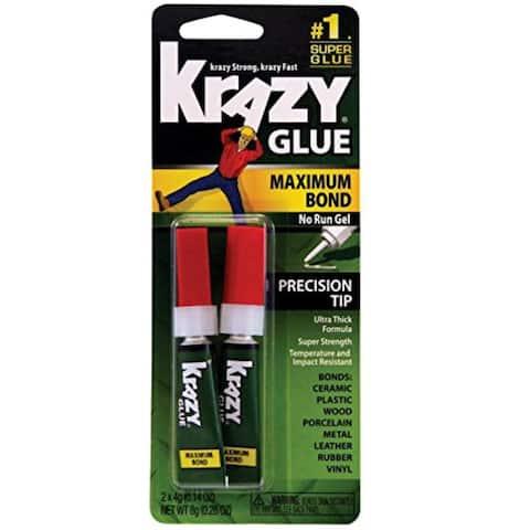 Krazy Glue KG817 Maximum Bond No Run Gel w/ Precision Tip, Clear, 4 Gram, 2 Pack