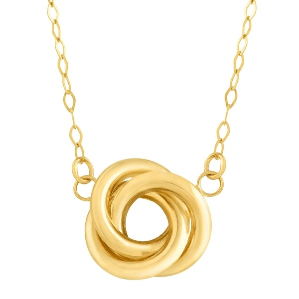 Eternity Gold Love Knot Necklace in 14K Gold - Yellow