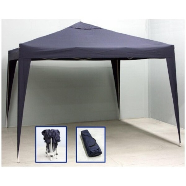 10' x 10' Navy Blue Outdoor Garden Party Stadium Folding Canopy Gazebo