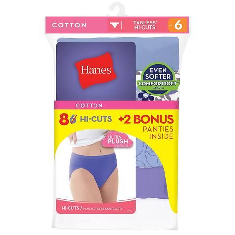 edd558b0951 Hanes Cool Comfort®  Cotton Hi-Cut Panties 6-Pack (Includes 2