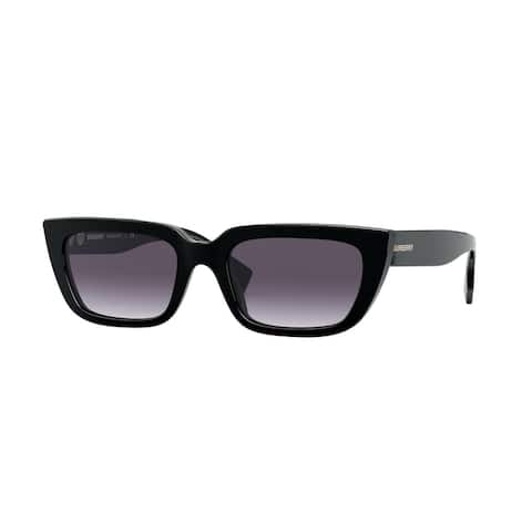 Burberry BE4321 38788G 52 Black Woman Rectangle Sunglasses