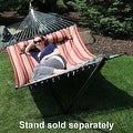 Sunnydaze 2-Person Quilted Hammock with Spreader Bars and Detachable Pillow - Thumbnail 56