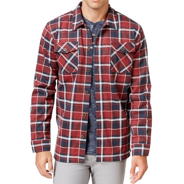 Weatherproof NEW Vintage Red Mens Size Small S Plaid Shirt Jacket
