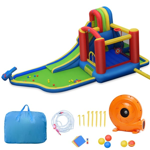 Gymax Inflatable Bounce House Slide Splash Pool Climbing Wall Park w/. Opens flyout.