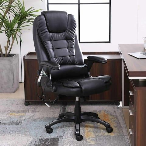 Office Massage Chair Ergonomic Heated 6 Point Vibrating Swivel Chair