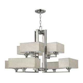 Fredrick Ramond FR49458 8 Light 2 Tier Chandelier from the Quattro Collection