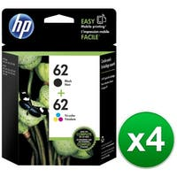 HP 62  Black & Tri-Color Original 2 Ink Cartridges (N9H64FN)(4-Pack)