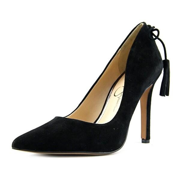 Jessica Simpson Centella Women Pointed Toe Suede Black Heels