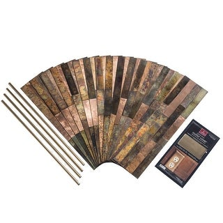 Link to Aspect Peel & Stick Bronze Relic Distressed Metal 15 sq ft Kit Similar Items in Tile