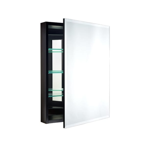 """Miseno MBC3023 Carlentini 30""""H x 23""""W Beveled Recessed or Surface Mount Mirrored Medicine Cabinet - N/A"""