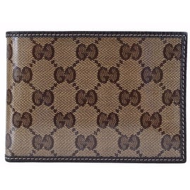 NEW Gucci Men's 292534 Crystal Line Coated Canvas W/Coin Large Bifold Wallet