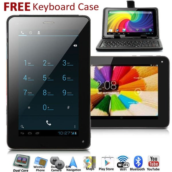 Indigi® 7.0inch 2-in-1 SmartPhone and TabletPC Dual-Core 2Sim Android 4.2 + WiFi + Google Play Store + Keyboard Case included