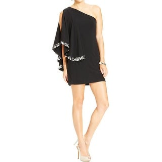 Blondie Nites Womens Juniors Party Dress Matte Jersey One Shoulder