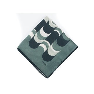 Tom Ford Men's Green Abstract Waves Silk Pocket Square