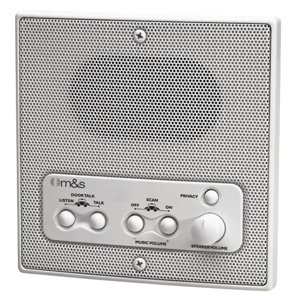 M&S Systems Dmc1Rw Weather-Resistant Remote Station Speaker (White)