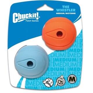 Chuckit 20220 Dog Whistler Launcher Tennis Balls, Medium, Assorted, Rubber