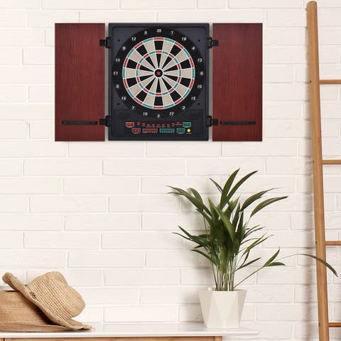 Soozier Electronic LED Dartboard Set with 27 Games & 202 Scoring Variations, 12 Darts & 30 Extra Dart Heads
