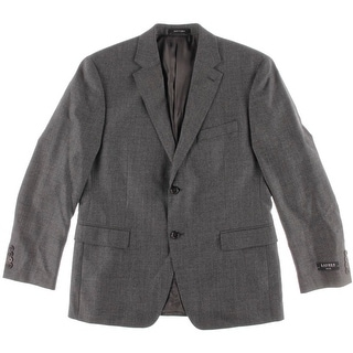 Lauren Ralph Lauren Mens Wool Slim Fit Sportcoat - 40S