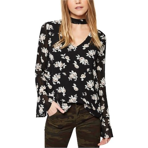 Sanctuary Clothing Womens Choker Pullover Blouse