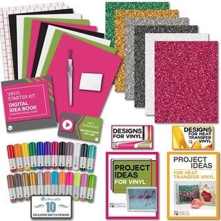 Silhouette Bundle - Vinyl, Transfer Tape, Glitter Htv, Tools, 24 Sketch Pens