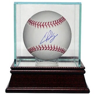 Casey Kelly signed Official Major League Baseball w Glass Case MLB Hologram Atlanta Braves