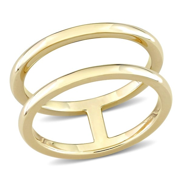 Miadora Double-Row Wedding Band in 10k Yellow Gold. Opens flyout.