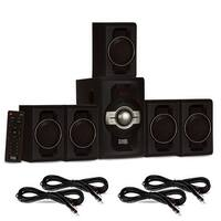 Acoustic Audio AA5240 Home Theater 5.1 Bluetooth Speaker System & 4 Ext. Cables