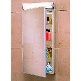 "Robern PLM1630BB 15 1/4"" Reversible Hinged Single Door Mirrored Medicine Cabinet"