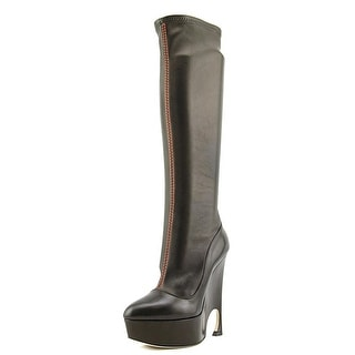 Christian Dior Vision Knee High Boots Pointed Toe Leather Knee High Boot