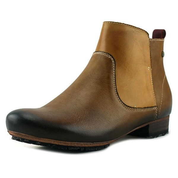 L'Artiste Aladyn Women Round Toe Leather Brown Ankle Boot