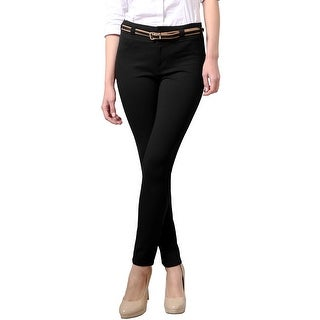NE PEOPLE WOMEN'S Comforable Stretchy Slim Fit Skinny Pants with Belt