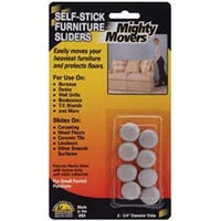 """.75"""" Round 8/Pkg - Mighty Movers Self-Stick Furniture Sliders"""